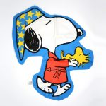 Snoopy in robe carrying Woodstock Pajama Bag