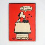 Snoopy kissing birds Poster 'sov nu godt, sma venner'