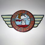 Flying Ace Snoopy 'Flying Ace Pilot Lounge' Sign