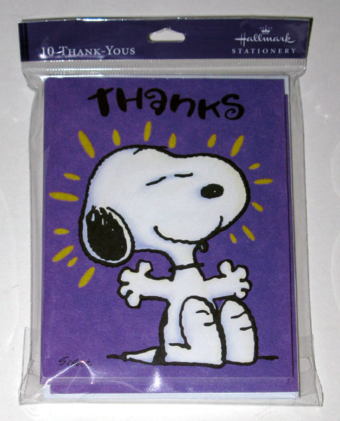 Snoopy Thank You Cards