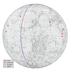 locations on the moon considered lunar heritage sites and the path nasa s grail probes took on their final flight nasa jpl  [ 1280 x 1280 Pixel ]