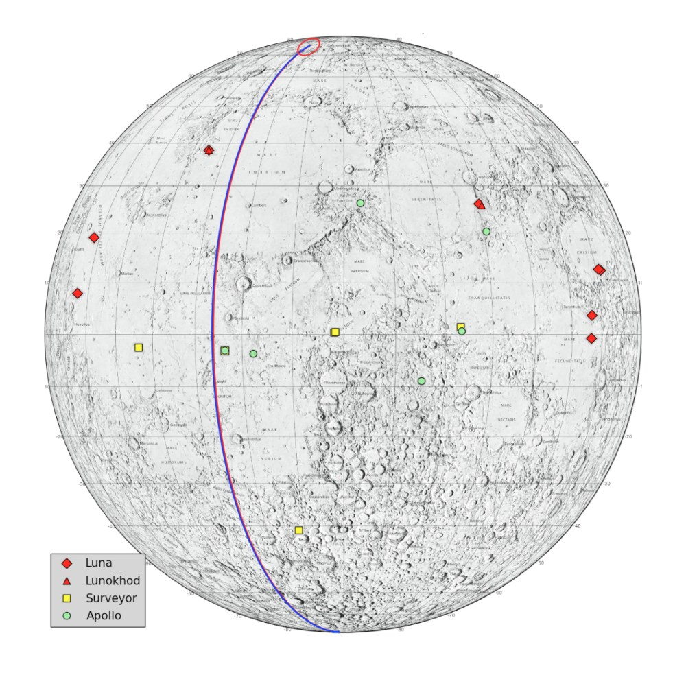 medium resolution of locations on the moon considered lunar heritage sites and the path nasa s grail probes took on their final flight nasa jpl