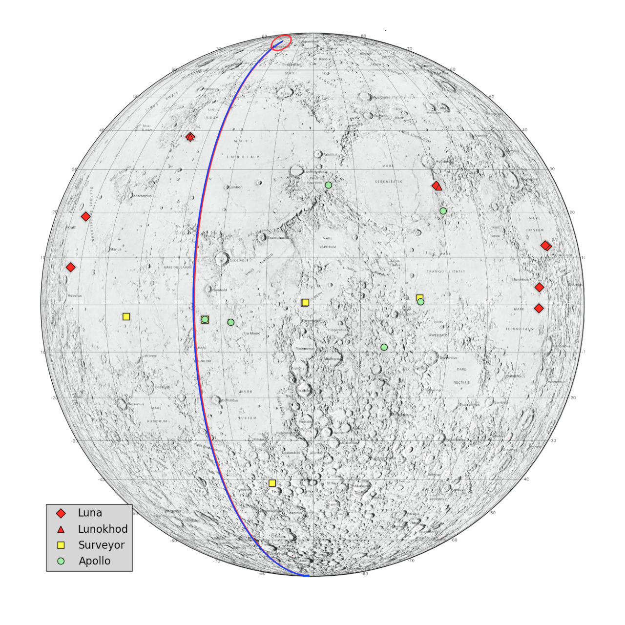hight resolution of locations on the moon considered lunar heritage sites and the path nasa s grail probes took on their final flight nasa jpl