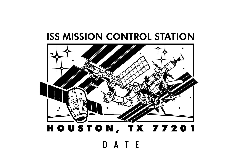 Pictorial postmarks: Houston ISS Dragon, Soyuz