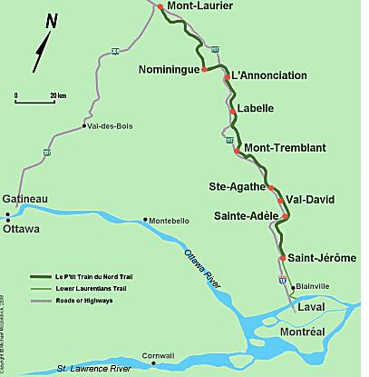 P'tit Train du Nord Map