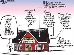 Roanoke Times Library Cartoon