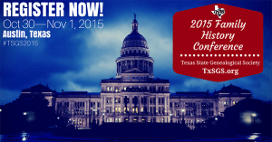 2015 TSGS Family History Conference