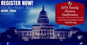 2015 TSGS Family History Conference