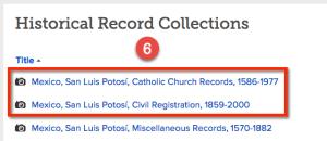 FamilySearch Digitized Mexico Records