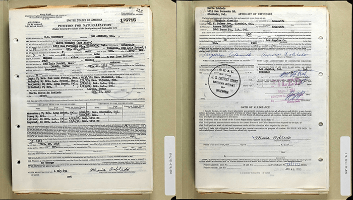Maria Nieto - Ancestry - 1954 Petition for Naturalization