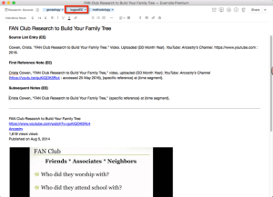 Evernote and EE Citations
