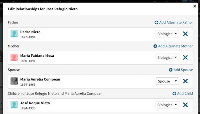 Jose Refugio Nieto Mesa - Edit Relationships