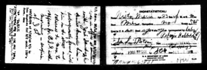 Maria Nieto 1915 Border Crossing from Ancestry