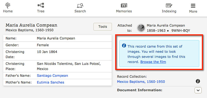 FamilySearch Makes it Easier to Access Unlinked Digitized Records
