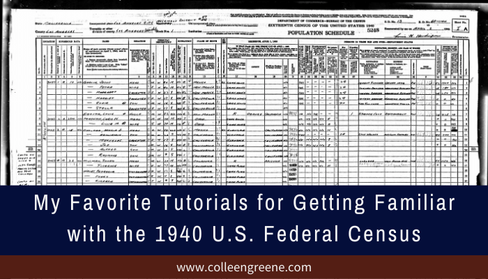 My favorite tutorials for getting familiar with the 1940 U.S. federal census.
