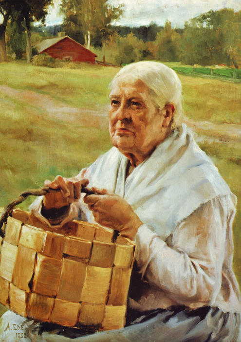 Albert-Edelfelt-Old-Woman-with-a-Basket-of-Wood-Chips