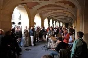 Jazz under the Place des Vosges arcades