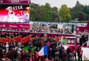 Qatar Prix de l'Arc de Triomphe award presentation