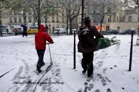 Paris snow December 9, 2010 Christmas tree