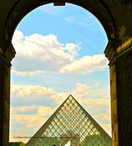 Louvre-pyramid designed by Ming Pei inaugurated in 1989