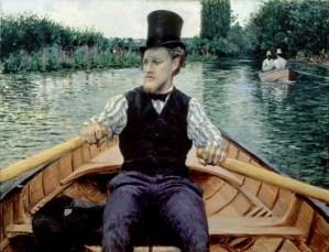 Canotier au chapeau haut de forme, Gustave Caillebotte