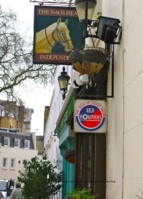 Nag's Head store front, Kevin Moran, London, pub