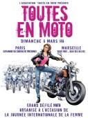 Poster for Toutes en Moto parade Paris and Marseille