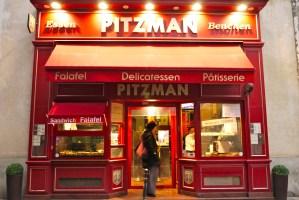 Pitzman Kosher Pizzas, Bagels, Pita, Cheesecake, le Marais Paris