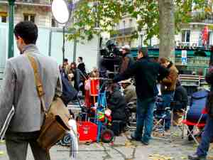 Shooting a movie in Paris - Place Monge