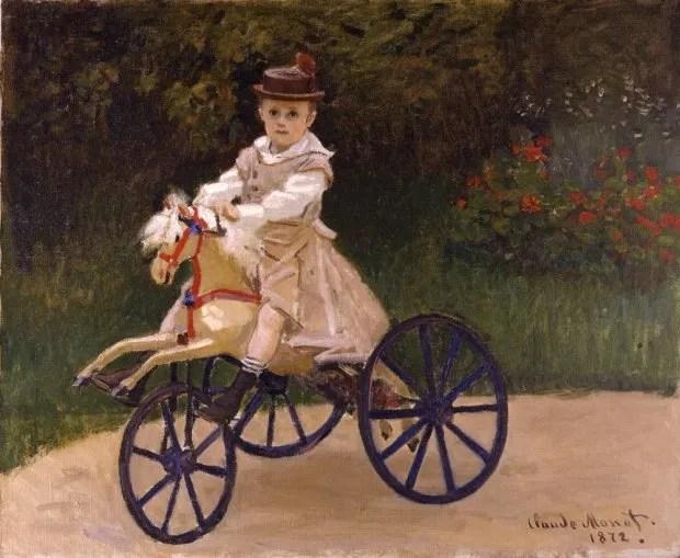 jean monet on hobby horse bike