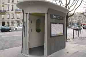 Paris sanisette/toilet with the door open