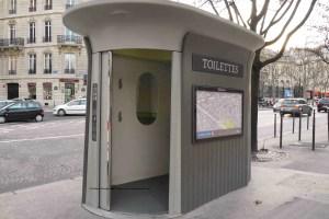Paris sanisette/toilet with the door open
