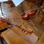 Viol (viola da gamba) and sheet music