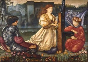 The Love Song 1865, Sir Edward Burne-Jones, Boston Museum
