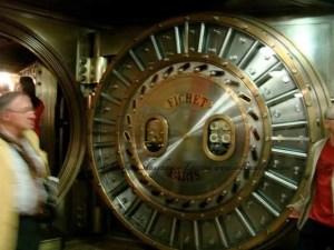 Journées du Patrimoine the bank vault at Societe Generale