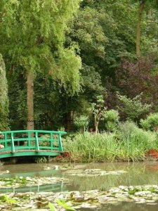 View from garden of lily pond Giverny bike ride between Vernon and Giverny month of September