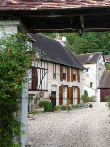Village you pass through to reach Giverny Monet's house - bike ride in September