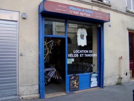 Bike rental shop Paris à vélo cést sympa! http://www.parisvelosympa.com/en/