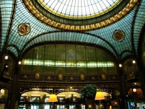 Journees du Patrimoine ceiling interior of the bank Societe Generale Boulevard Haussmann