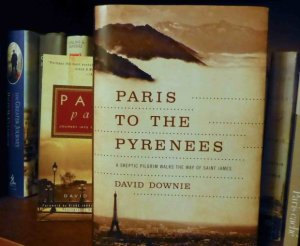 Book jacket for Paris to the Pyrenees, A skeptic pilgrim walks the way of Saint James by David Downie
