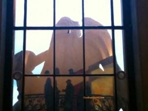 Grand Palais Window Silhouettes during Braque exhibit