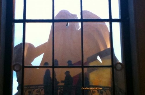 Grand Palais Window Silhouettes during Braque exhibit