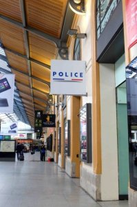 The police station at Gare Saint Lazare where we were transported by metro to make reports