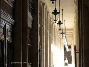Palais Royal arcade and lamps, cleaner walking