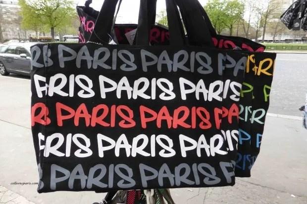 Paris souvenir shopping bag at Trocadero