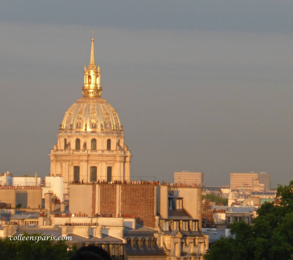 View of Invalides in the sunset from Trocadero