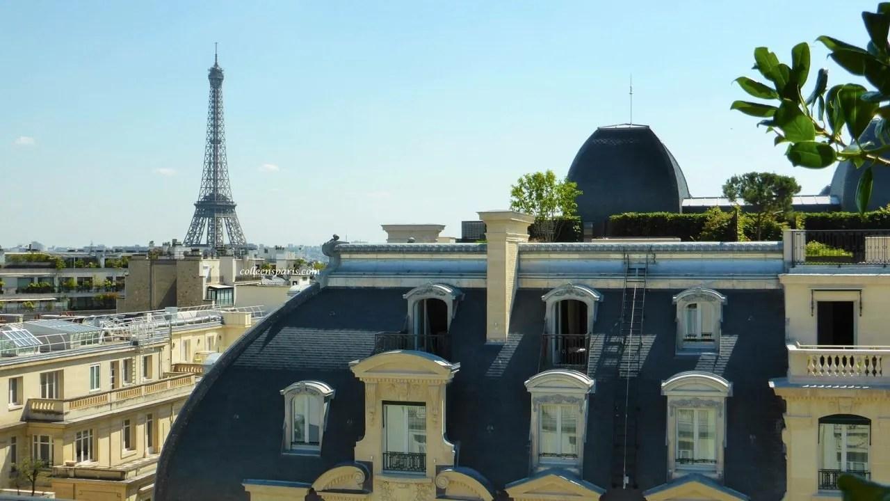 Eiffel Tower and Haussmann building rue Kléber