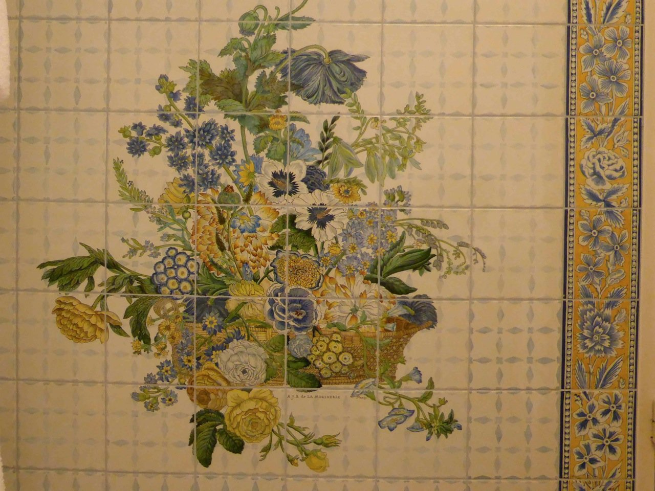 La Morinerie painted tiles State Suite bedroom Hotel Raphael Paris