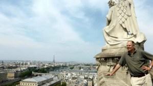 Panoramic view with Eiffel Tower-Erik Tour Saint Jacques Chatelet Paris