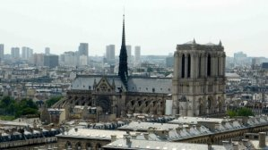 View of Notre Dame and 13th arrondissement from Tour Saint Jacques